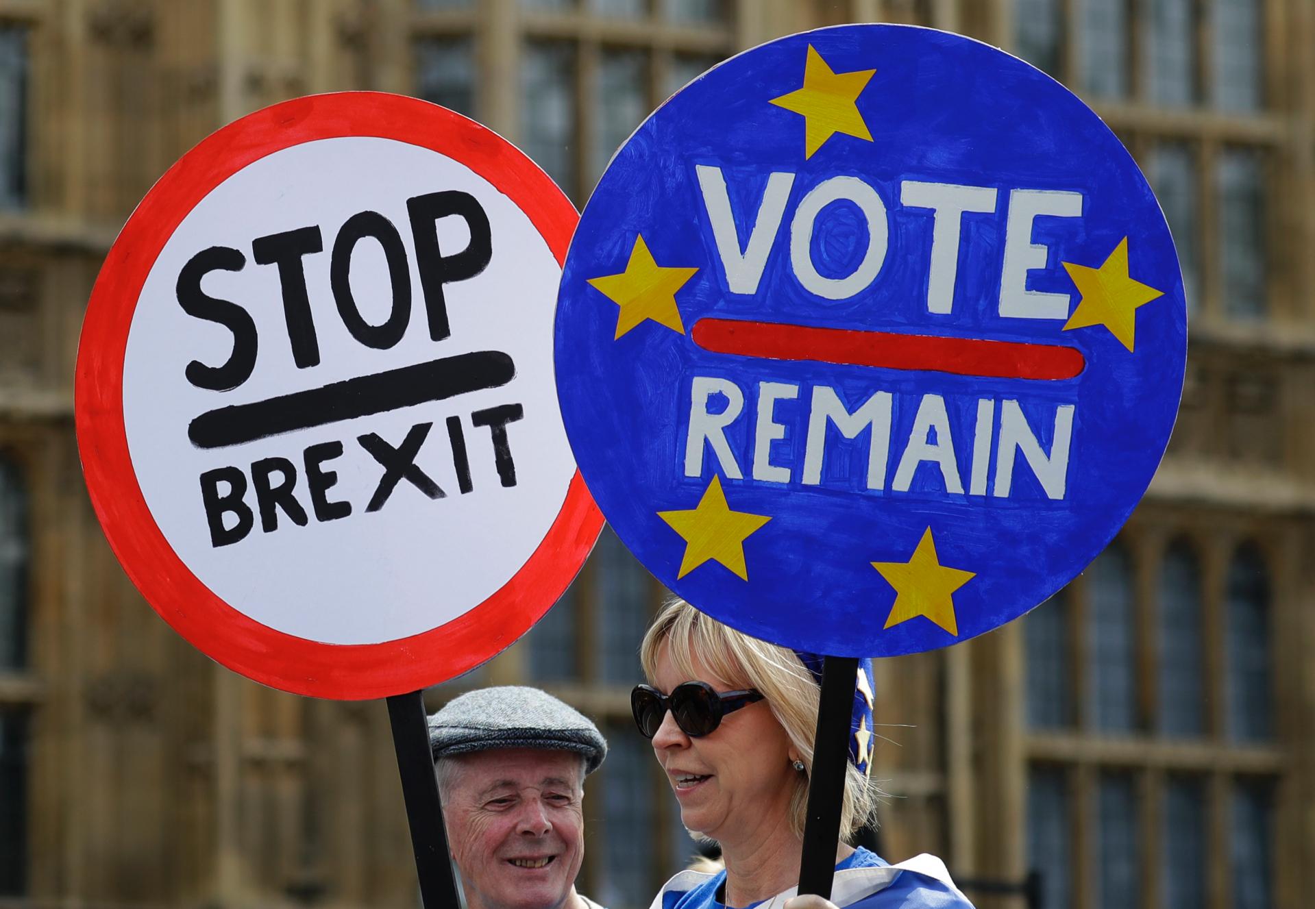 The Latest: Brexit: Senior Cabinet official quits UK govt