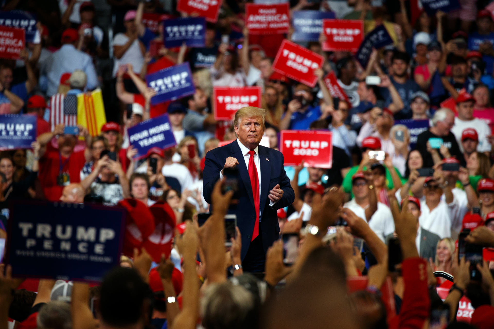 AP FACT CHECK: Trump's boasts, blasts and promises at rally
