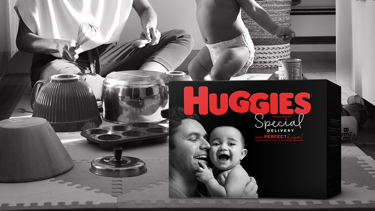 Huggies diaper boxes feature dads for the first time