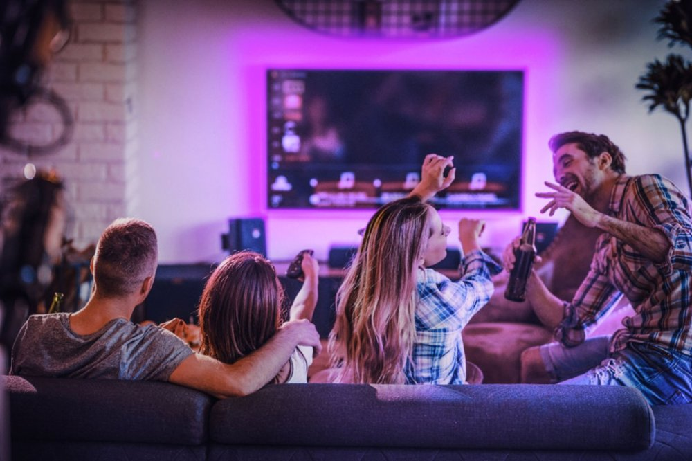 Eye candy: Ambient smart home lighting for futuristic entertainment centers