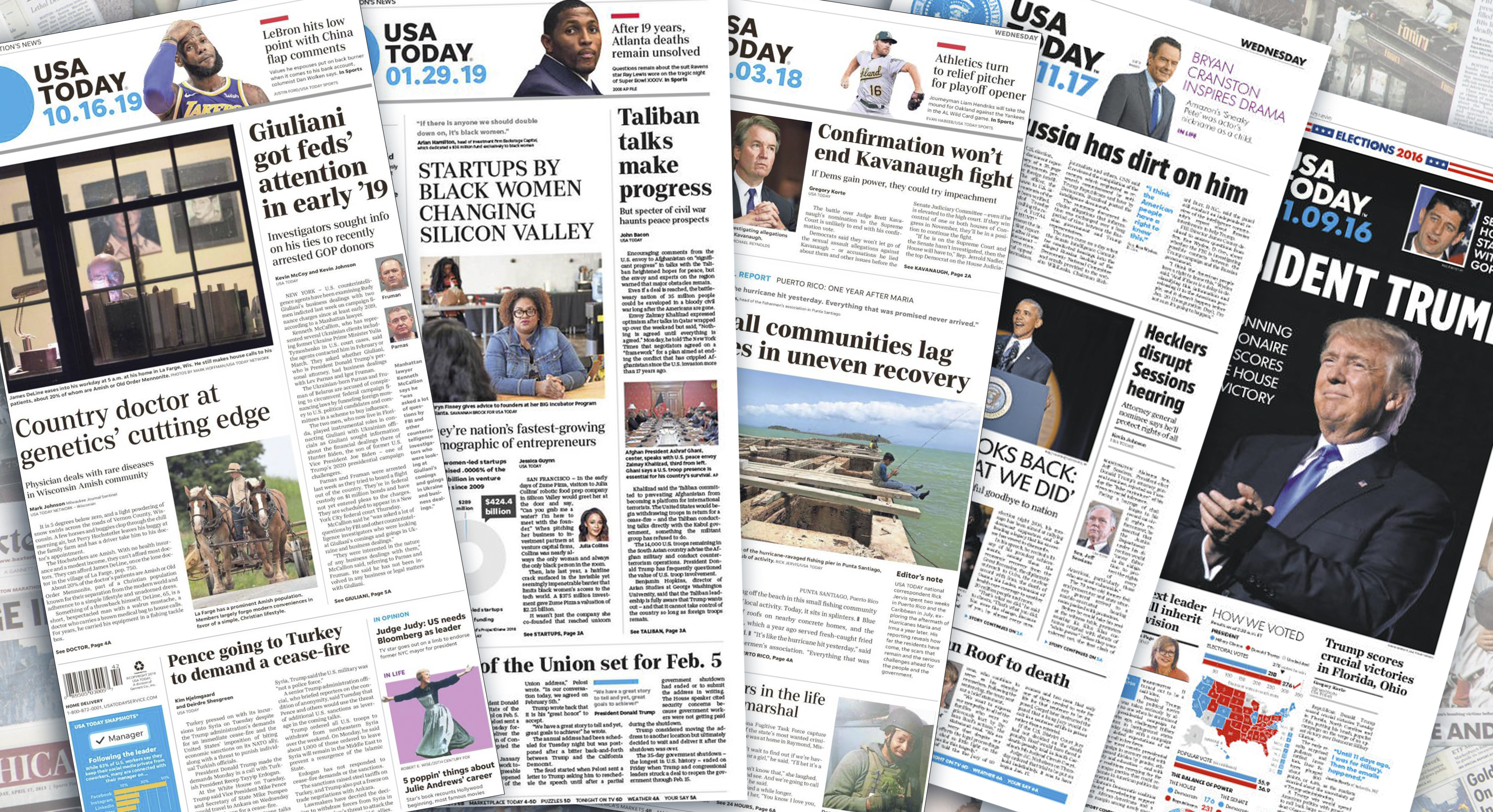 Could the USA Today print edition, hotel staple, be checking out?