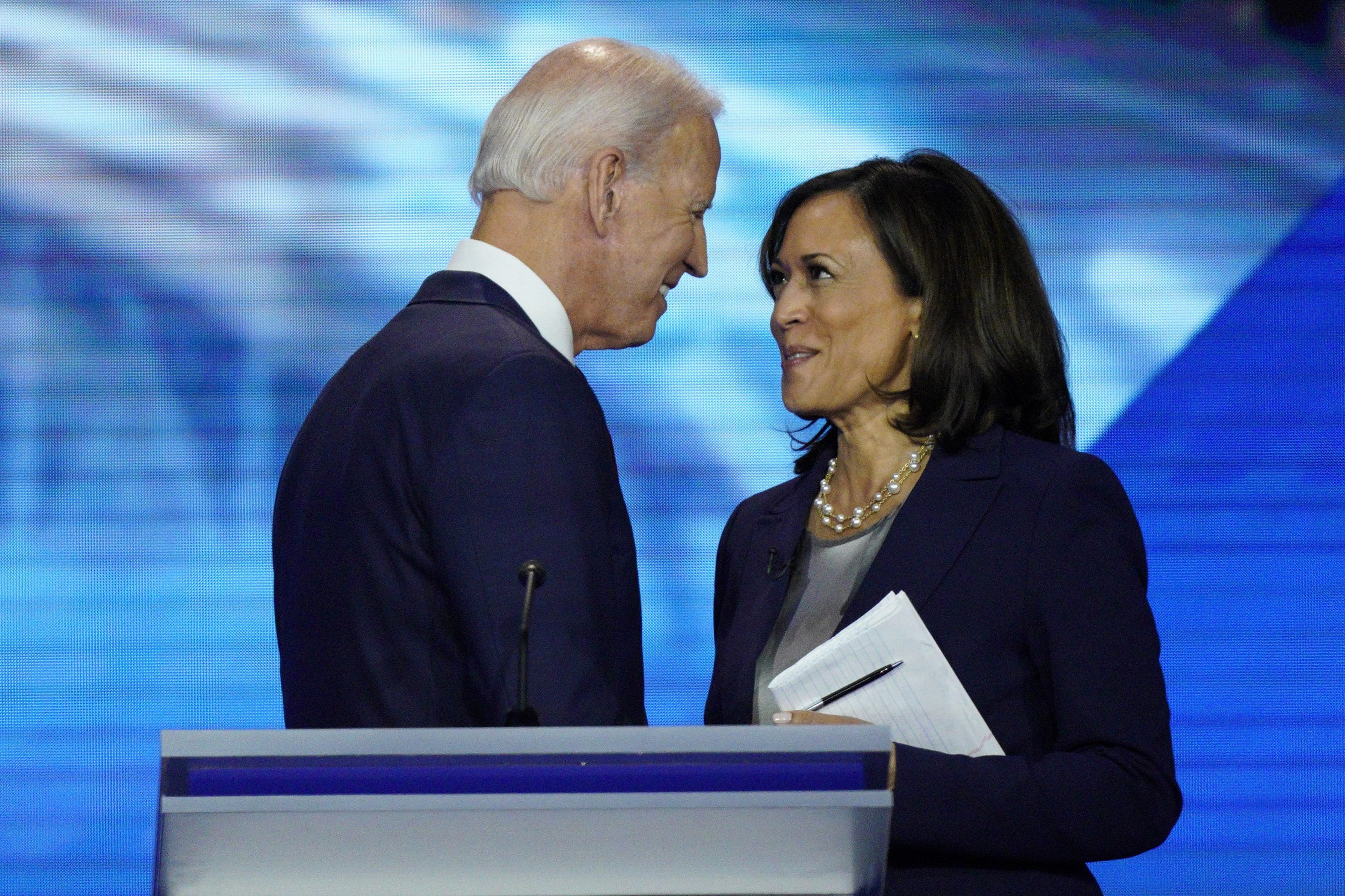 Former Vice President Joe Biden speaks at night four of the 2020 Democratic National Convention.