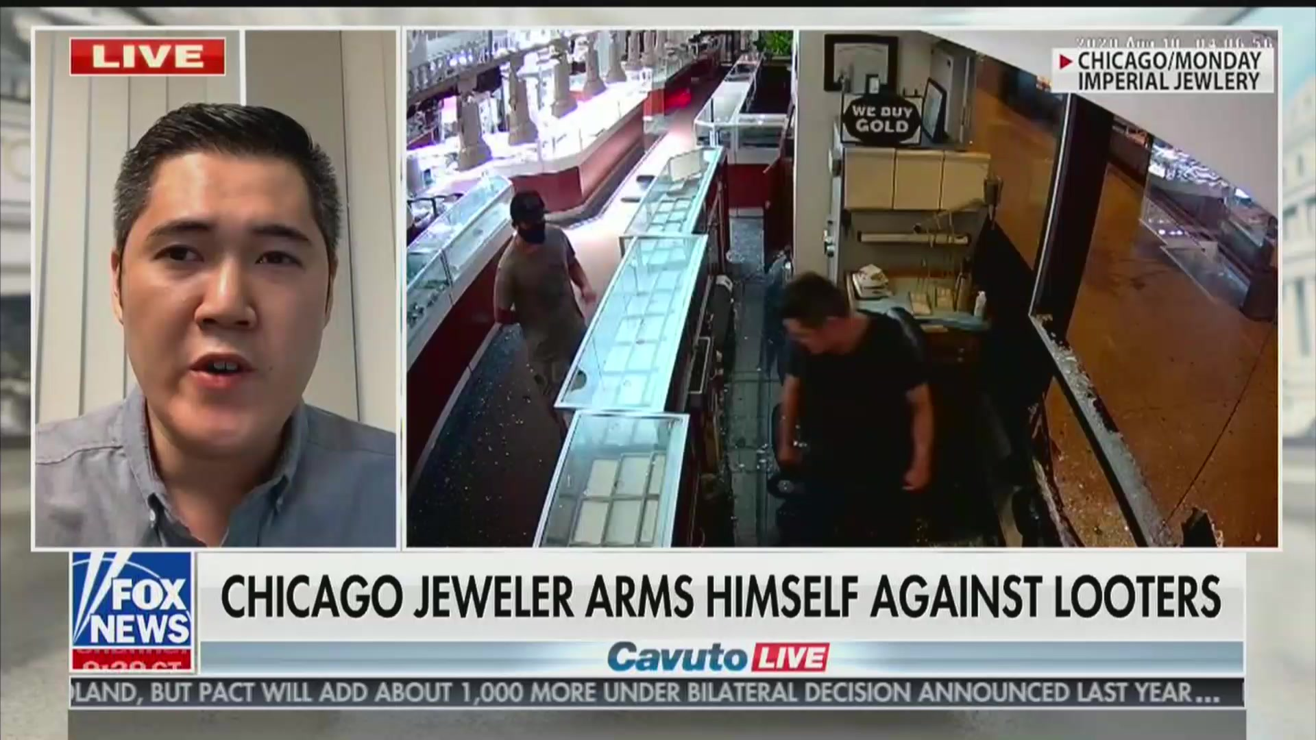 As the debate over how to protect U.S. cities plays out on the campaign trail, one Chicago business owner was forced to take matters into his own hands.